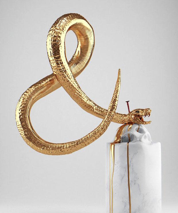 Serpent-Sculpted Ampersands