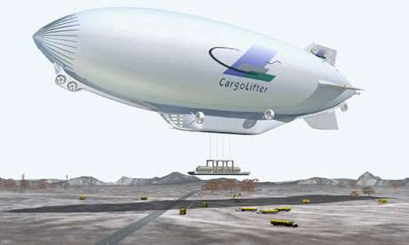 Helium-powered airships