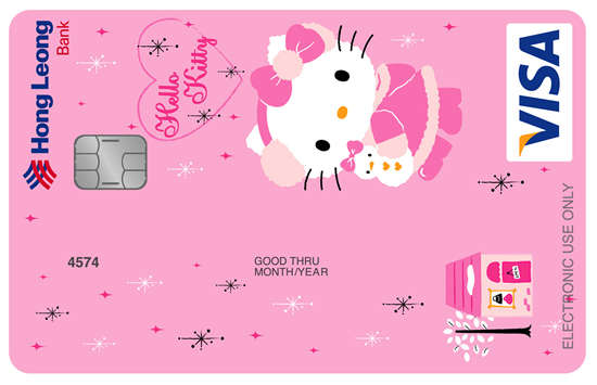 Feline Cartoon Currency Hello Kitty Debit Card