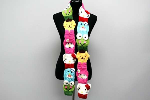 Animation Mashup Crochet Scarves