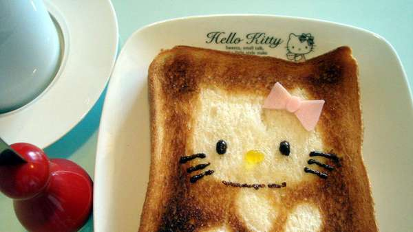 Diy Bread Designs Hello Kitty Toast