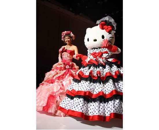 Cartoon Feline Nuptial Gowns
