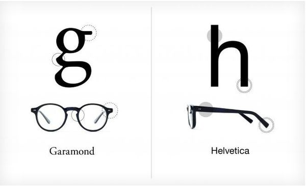 Helvetica and Garamond Eyeglasses
