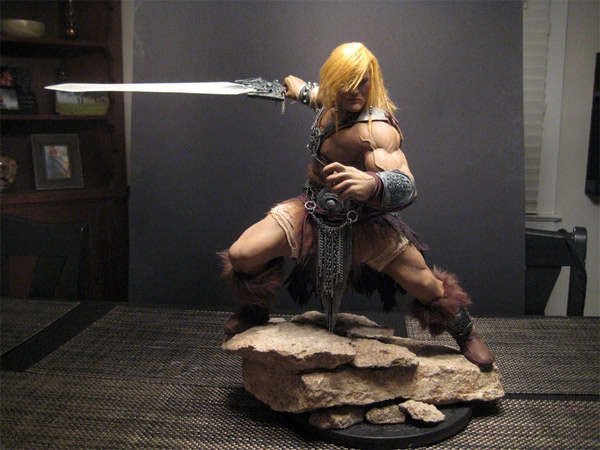 Fantasy Fighter Cartoon Statues