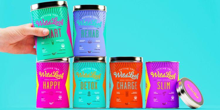 Saturated Herbal Tea Branding