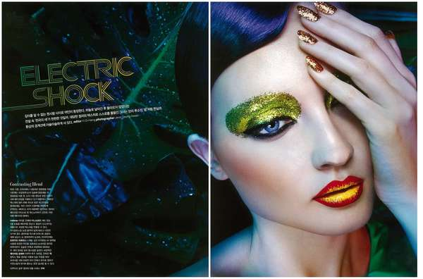 Exaggerated Shimmer Editorials