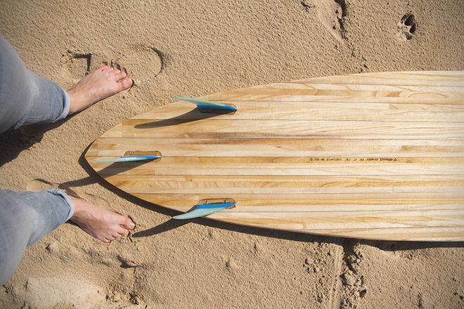 Veneer-Treated Surfboards