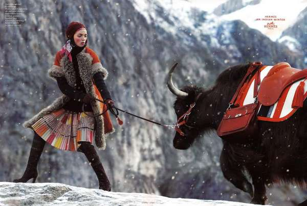 Snowy Mountain Fashion Ads