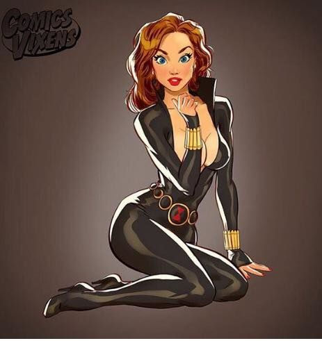 Heroine Pin-Up Illustrations