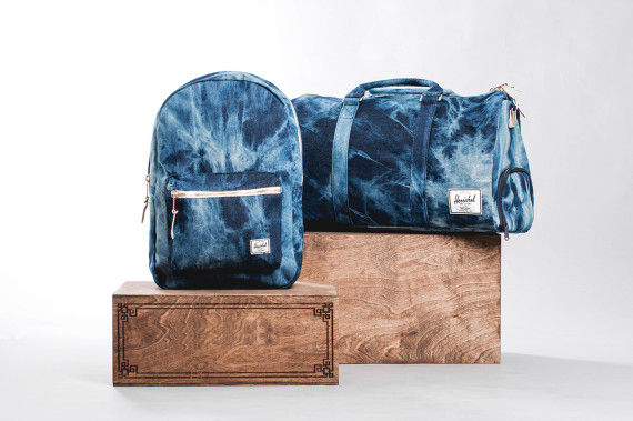 Bleached Denim Backpacks
