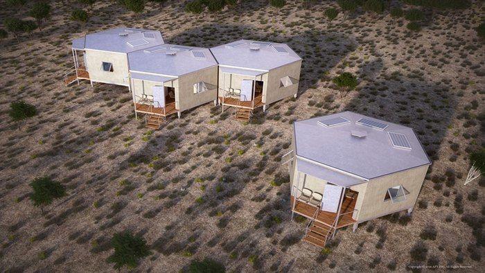 Hexagonal Disaster Shelters
