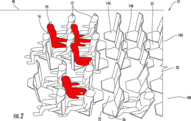 Hexagonal Airplane Seating