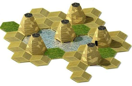 Green Geometric Islands