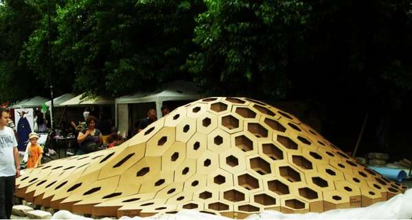 Bulbous Honeycomb Sculptures