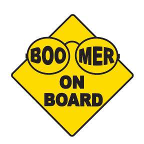 Car Signs for Boomers