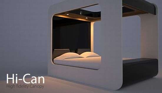 High Fidelity Canopy Bed Theater