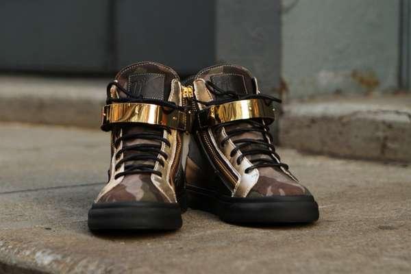 Biker-Ready Metallic Shoes