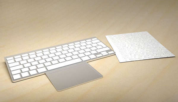 Flip-Out Keyboard Touchpads