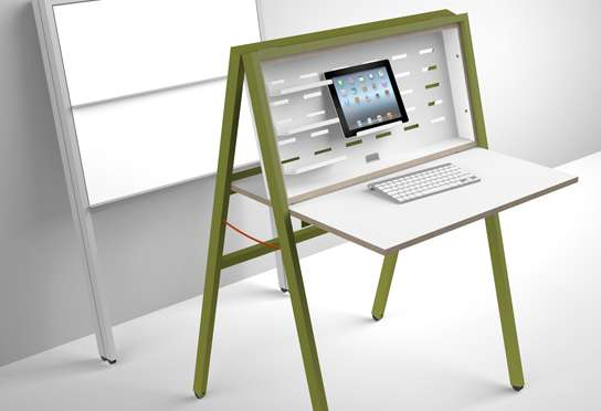 Easel Style Workstations Hidesk Folding Desk