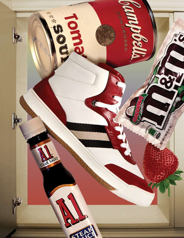 Junk-Food Couture Collages