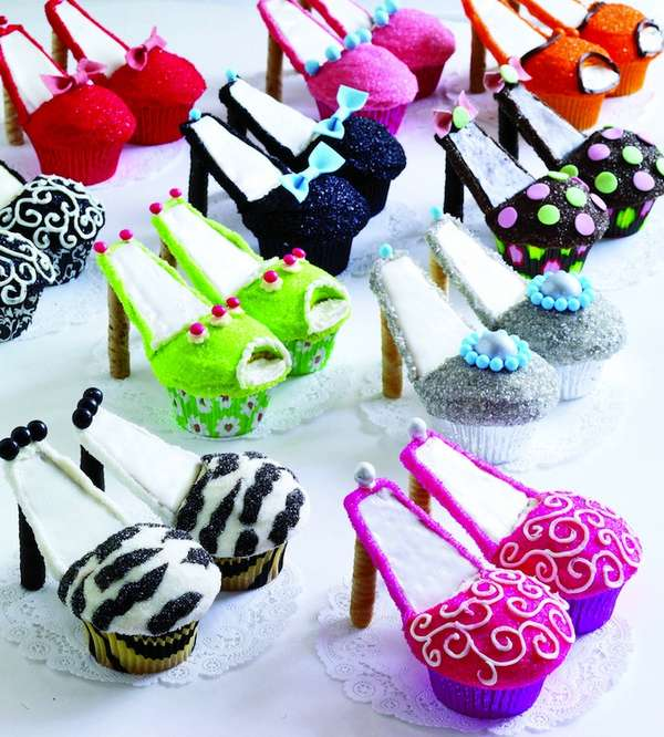 High Heel and Purse Cupcakes