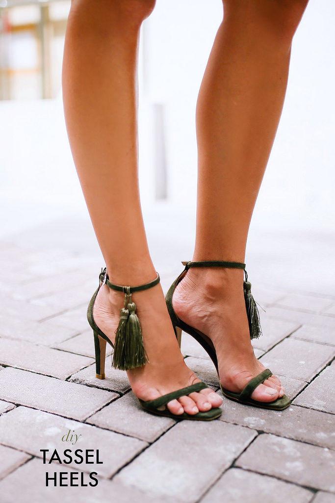 DIY Tassel Heels
