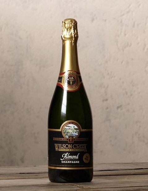 Frothy Almond-Infused Champagnes