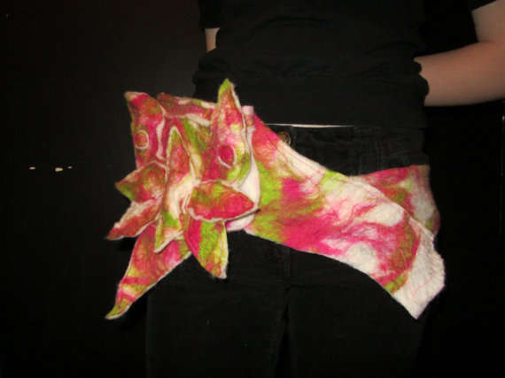 Floral Felted Fanny Packs