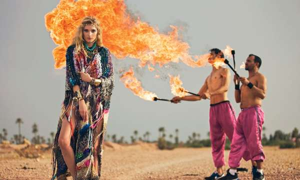 Fiery Hippie Fashion Shoots