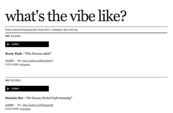 Hipster Bar-Trolling Tumblrs