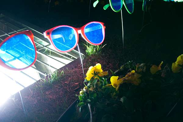 Hipster Sunglass Art Installation