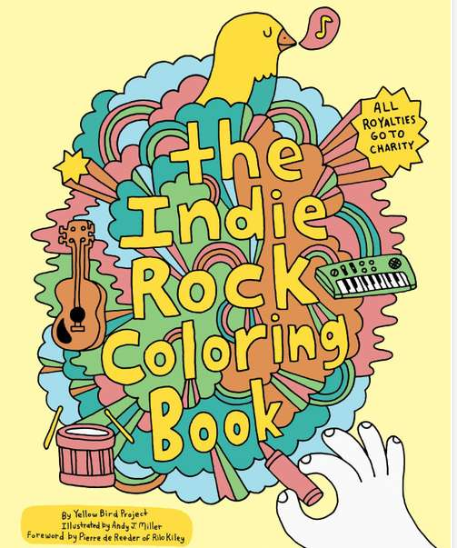 Note That The Indie Rock Coloring Book Royalties Go To Charity Aww Do Gooder Hipsters