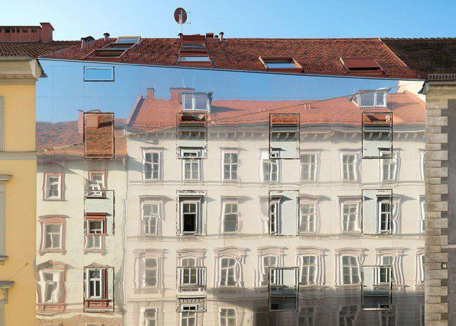 Mirrored Historic Buildings