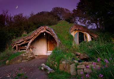 hobbit style architecture low impact woodland homes built