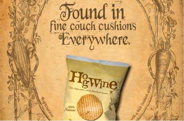 hogwine potato chips ads