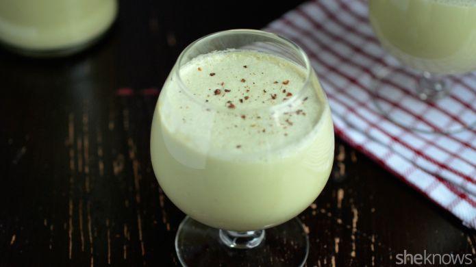 Boozy Pistachio Eggnogs