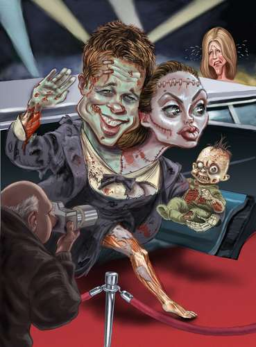 Undead Celeb Illustrations