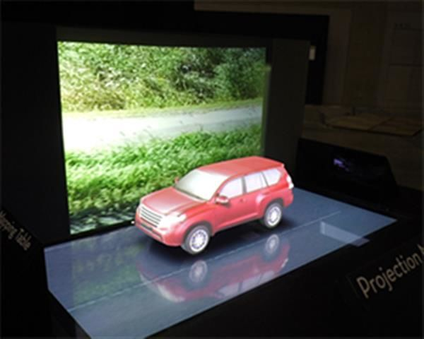 Holographic Projection Tables