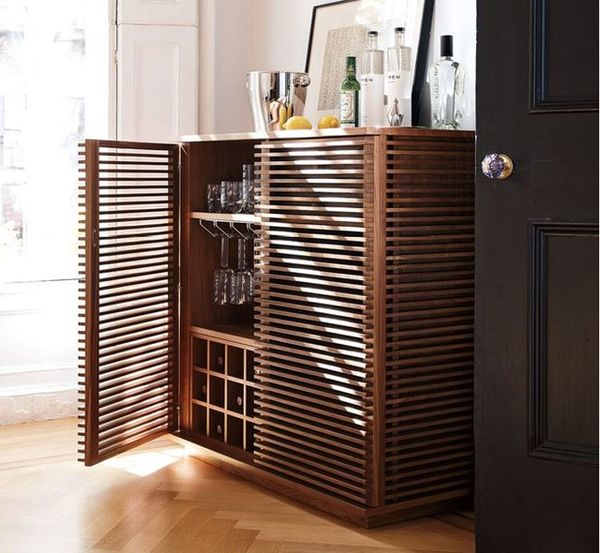 Luxurious Walnut Wine Bars