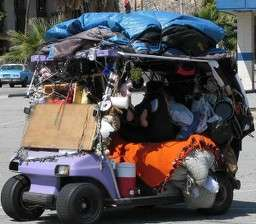 Living In Golf Cars Homeless Move To Golf Carts In Palm