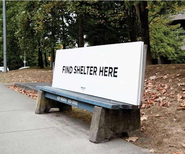 homeless shelter advertising