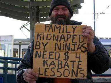Homeless Humor
