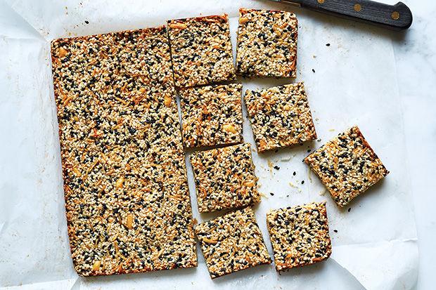 Healthy Sesame Squares : homemade bars