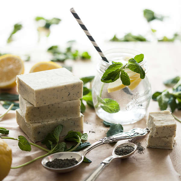 Homemade Lemon Herb Soap