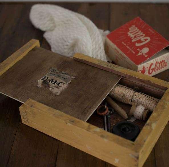 DIY Vintage Sewing Boxes