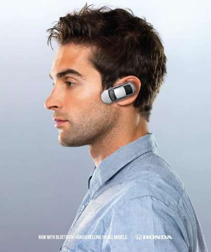 Vehicle Earpiece Ads