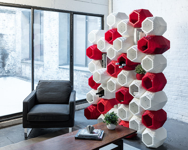 Printed Honeycomb Shelves
