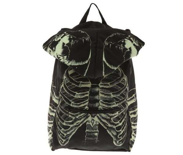 Glowing Hooded Skeleton Backpacks