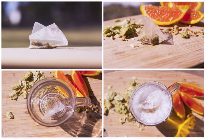 Beer-Enhancing Tea Bags