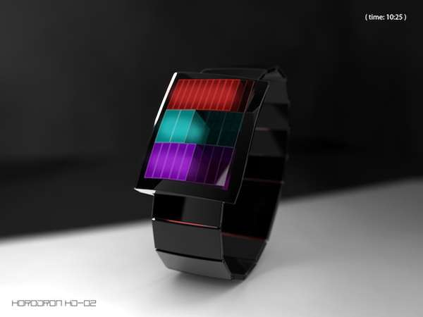 Otherworldly LED Timepieces